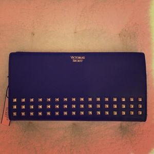 Victoria's Secret Black and Gold Studded Clutch